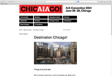 2014 AIA Convention Website, Chicago, IL