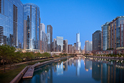 Chicago Skyline, Chicago River - Image #1543